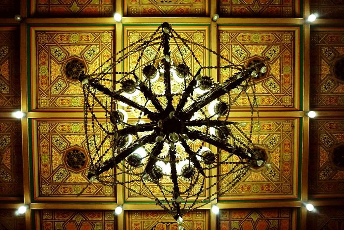 Pattern Ceiling Low Angle View Ornate Indoors  Architecture Built Structure No People Day Close-up Palaces Malay Sultan Istana Maimun