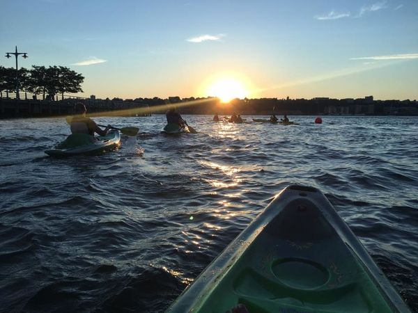 Hudson River Hudson River Sunset Journey Kayak Kayaker Sunset Tourism Tranquil Scene Waterfront