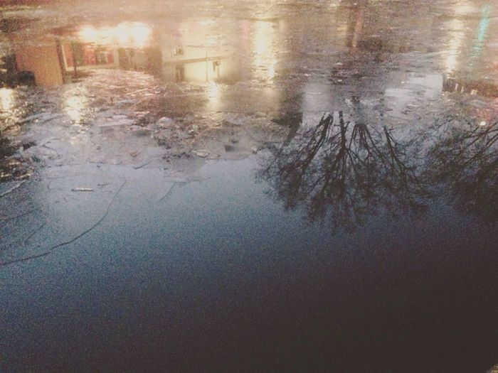 Outdoors Reflection Water Nature Cold Temperature Beauty In Nature IPhoneography Water Reflections Tree Frozen