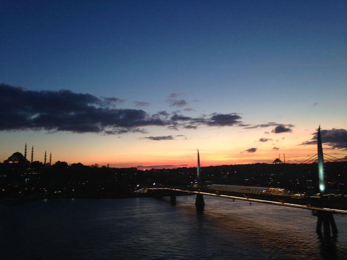 Istanbul offday sky Bridge