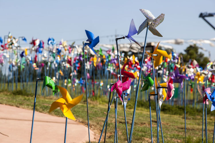 Day Flying Focus On Foreground Group Of Objects Imjingak Lane Large Group Of Objects Multi Colored No People Outdoors Park Pinwheel Pyeonghoa-Nuri Spinning Walkway