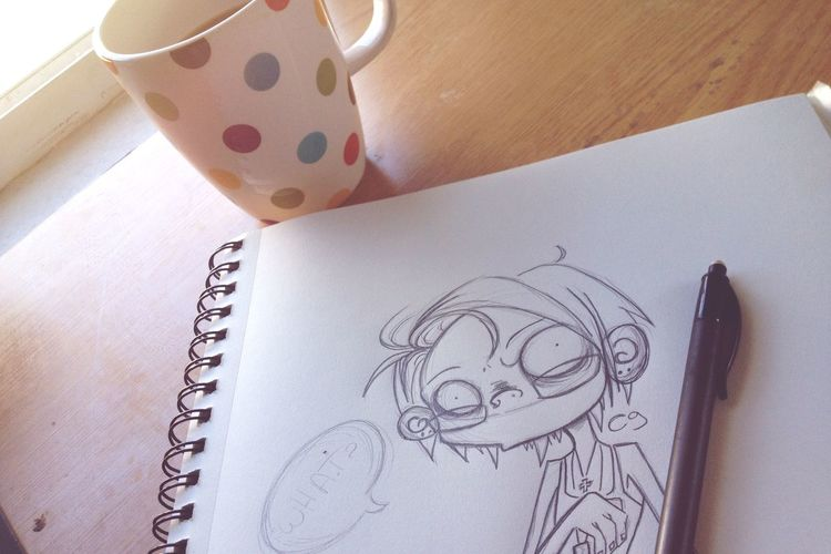 Good Morning Happy Drawing Coffee Sunny Sunny Day Summer Love Feeling Thankful Feeling Good