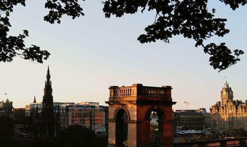 "Sunset in ""Edinbra"" Edinburgh Architecture City Cityscape Sunset Greatday"