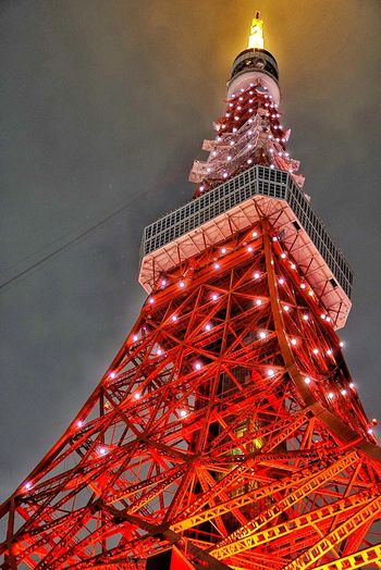 Try to cap it all ^.* Tokyo Tower Red Architecture City Night Outdoors