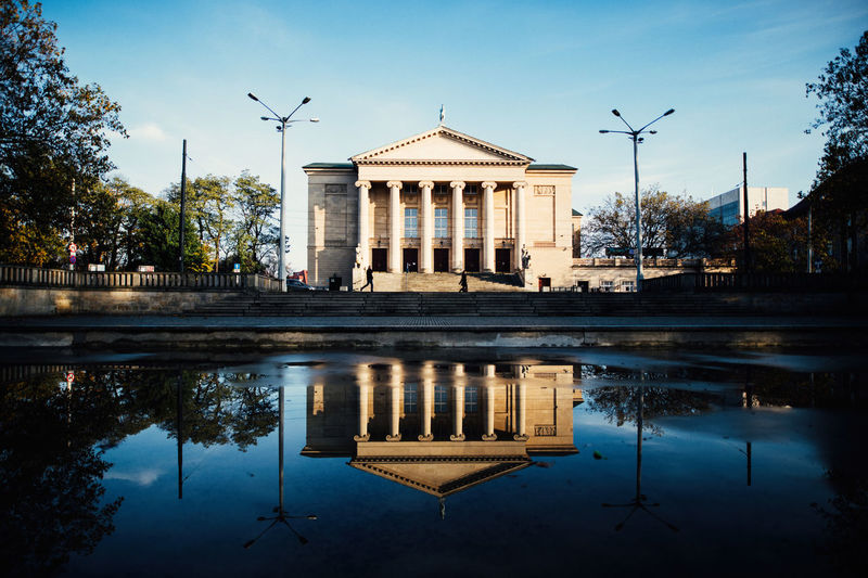 Opera The Week on EyeEm Reflection Canonphotography Street Photography Landscape Cityscape Architecture Capture The Moment Light And Shadow Spring Water Building Exterior Built Structure Nature Sky Tree Travel Destinations Symmetry History Building City Reflecting Pool Outdoors The Past