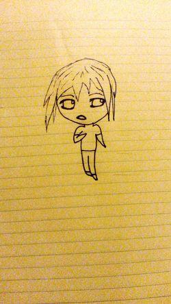 Beginner Chibi Anime Manga Girl/boy Boy And Girl Boy Or Girl? Bored First Time Not Bad Random Follow4follow Inspired Originalwork Art Drawing Marker Madebyme Handmade Creativity