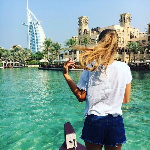 Dubai Hotel Girl Luxury Architecture Lifestyles One Person Water Casual Clothing Fashion Vacations Sky Fashion Photography Fashionable Fashionblogger Travel Destinations First Eyeem Photo EyeEmNewHere