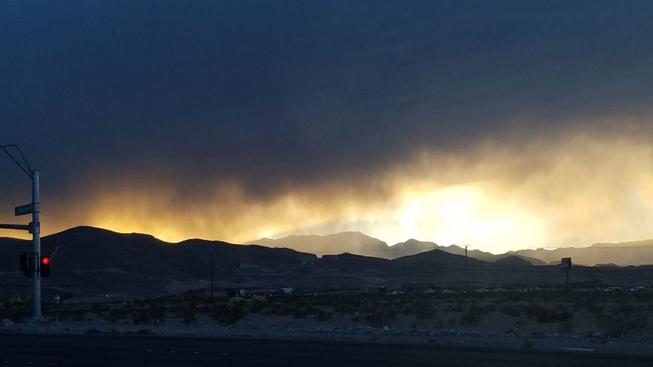 Las Vegas Mountain Dramatic Sky Landscape Mountain Range Outdoors Scenics Beauty In Nature