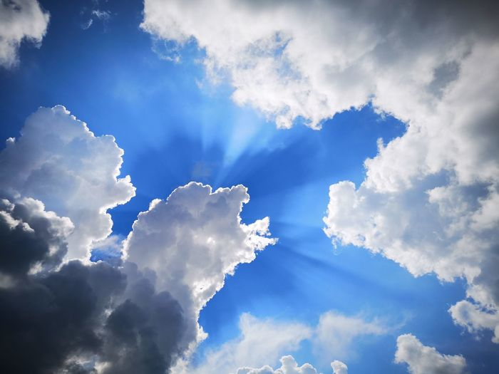 By the chance, when I was passing by church I look and see this formation baby sheep 🐑 on the sky. This picture did go awesome. Blue Sunny Day Backgrounds Spirituality Cloud Computing Heaven Sky Cloud - Sky Sky Only Fluffy Dramatic Sky