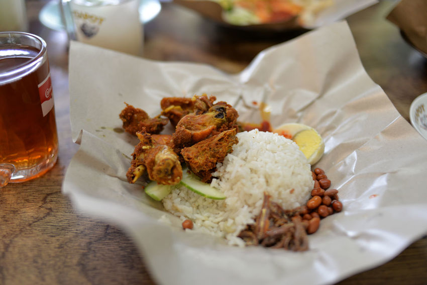 Jun'18: Nasi Lemak or Malay Fragrant Rice - Baba Low 486 Bangsar Kuala Lumpur Kuala Lumpur Malaysia  Kuala Lumpur City Center Kuala Lumpur, Malaysia Malaysia Malaysia Truly Asia Malaysian Food Malaysian Malaysia Scenery Malaysianphotographer Malaysianstreet Malaysian Culture Malaysian Cuisine Nyonya Nyonya Food Nyonya Style Nasi Lemak Nasi Lemak Malaysia Nasi Lemak For Breakfast Fragrant Rice Food And Drink Food Ready-to-eat Freshness Table Plate Meat Indoors  Wellbeing Close-up Meal Still Life No People Healthy Eating Serving Size Selective Focus High Angle View Focus On Foreground Rice - Food Staple Chicken Meat Fried Chicken Crockery Dinner Temptation EyeEmNewHere