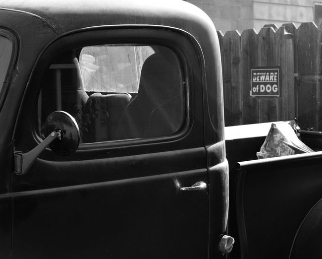 Close-Up Of Vintage Pick-Up Truck