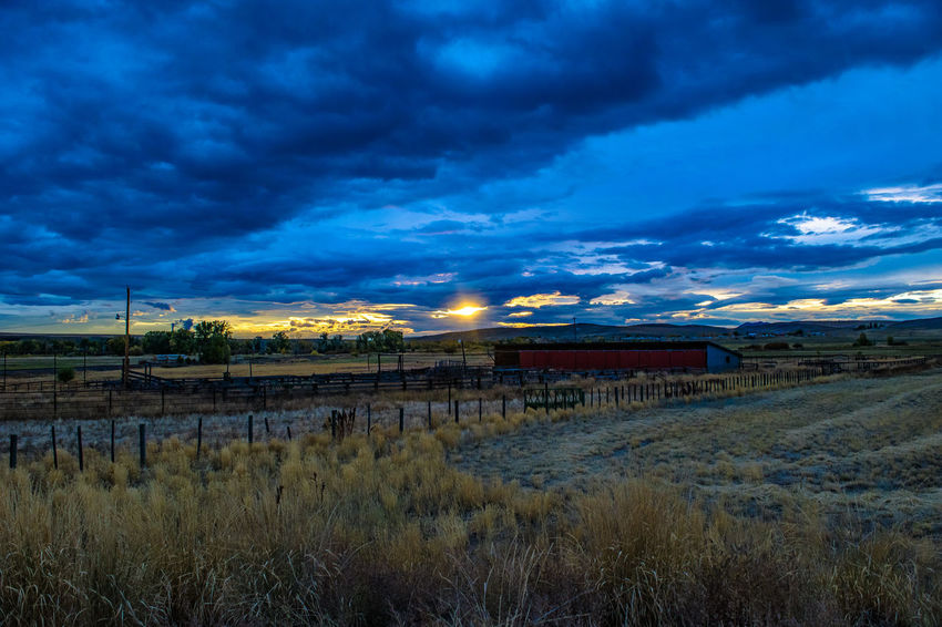 Sunset in Steamboat Colorado Sunset_collection Architecture Beauty In Nature Building Exterior Built Structure Cloud - Sky Day Grass Landscape Nature No People Outdoors Scenics Sky Steamboat Sunrise Sunset Tranquil Scene Tranquility Water