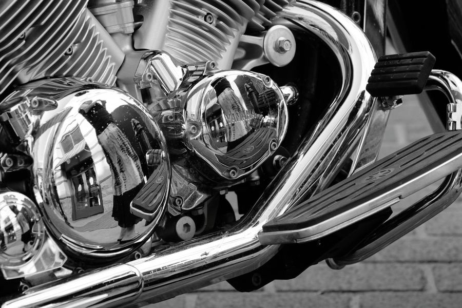Fort Worth, Texas. Close-up Reflections Chrome Transportation Day Street Photography Bnw Blackandwhite Bnw_captures Photowalk Motorcycle Travel Photography Traveling Texan Texas Urbanphotography