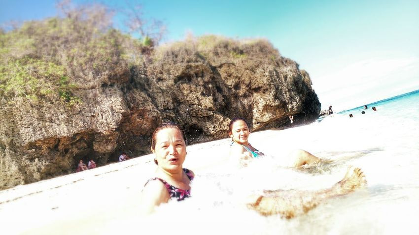 Mother and Daugther bonding Relaxing Enjoying Life Beach Life Boracay Philippines