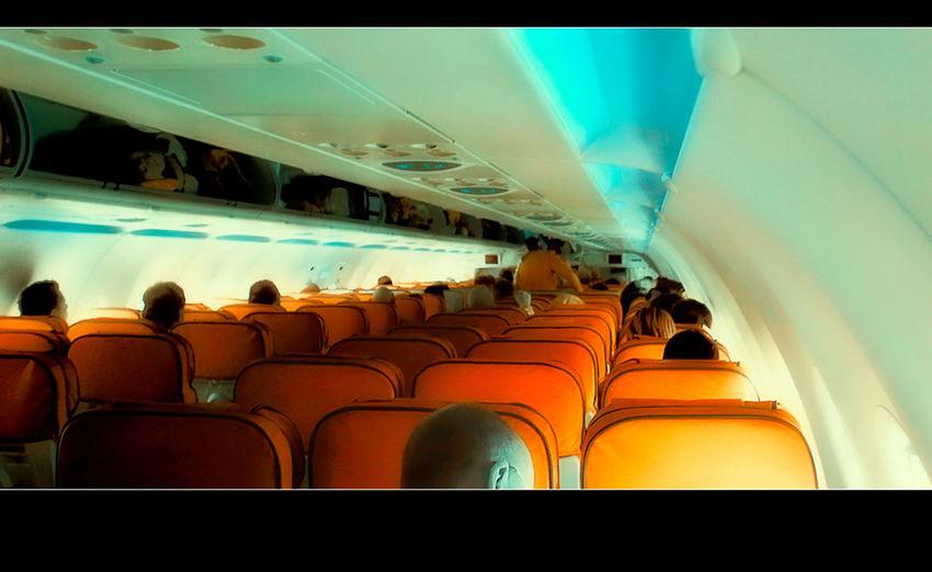 Airplane Departure Hasenkasten Passenger TakeoverContrast Transportation Travel Vehicle Interior