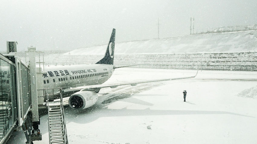 Airport Plane Winter Temperature Snow Snow ❄ Weather Cold Temperature White EyeEm Best Shots EyeEm Gallery High Key ForTheLoveOfPhotography Airplane Travel Air Vehicle Travel Destinations City Outdoors No People Day Shades Of Winter Business Stories