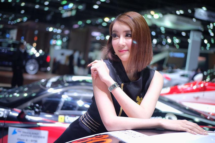 pretty model car in Thailand motor expo 2016 Car Car Show Event Exibition Exibition Hall Girl Hall Model Model Girl Motor Expo Motor Expo 2016 Present Pretty Pretty Girl Pretty Model Show Thailand