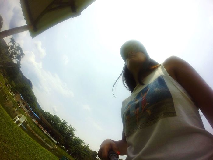 SHE Low Angle View Sky Cloud Tranquility Tourism First Eyeem Photo Beauty In Nature Goprooftheday GoPro Hero3+ Gopro Goprohero4 Lake View Fishing Longhair Happy