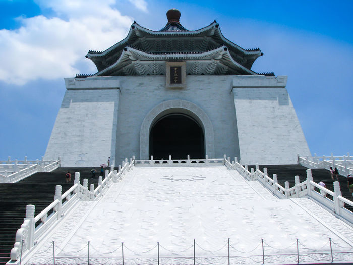 Arch Architectural Column Architectural Feature Architecture Blue Built Structure Capital Cities  Cloud Cloud - Sky Day Façade Famous Place History Low Angle View No People Ornate Outdoors Place Of Worship Sky Tourism Travel Destinations Chiang Kai-shek Hall Taiwan