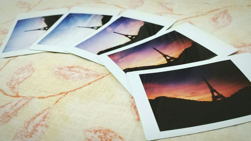 Things I Like: instant photos. And Paris 🗼❤ Relaxing Moments Paris Sunset In Paris Travel Traveling Travel Photography Tour Eiffel Instaxmini8 Instax Love Memories Romantic Romance Sunset Sunset_collection Sunsetporn Sunsetlover From My Point Of View Cellularphotography Samsung Galaxy S4 Samsungphotography Galaxys4 Original Experiences