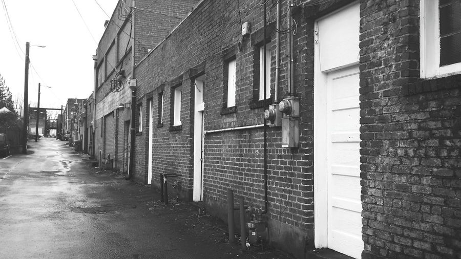 Walking Around The City  Back Street Blackandwhite Photography Photo Walk Street Photography