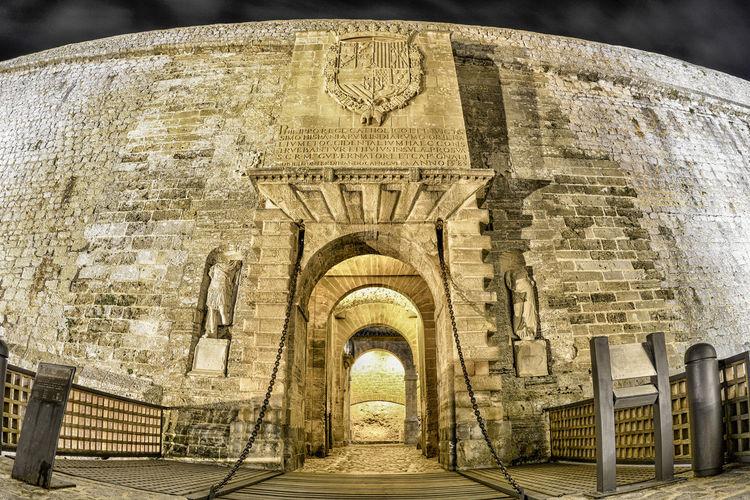 Portal de Ses Ibiza World Human Heritage Site World Heritage World Heritage Site World Heritage Site By UNESCO Ibiza Eivissa Dalt Vila Ancient Civilization Ancient History The Past Close-up Built Structure