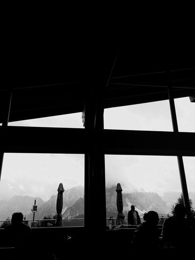 Amazing View Monte Elmo 2.500 M Italy Monte Elmo Italia Sesto  Sexten Dolomites, Italy Val Pusteria Blackandwhite Silhouette Monochrome Black And White Black & White Real People Silhouette Men Medium Group Of People Sky Lifestyles Women Indoors  Leisure Activity Architecture Built Structure Day Nature Adult People
