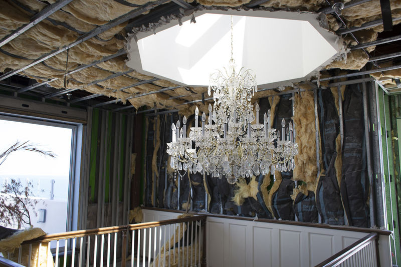 Chandelier in Abandoned Penthouse Abandoned Architecture Ceiling Chandelier Hanging Indoors  Misplaced No People Single Object Unfinished Urban Exploration