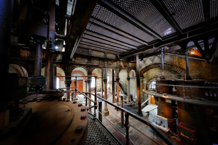 Crossness Pumping Station Indoors  Architecture Built Structure Factory Metal Industry No People