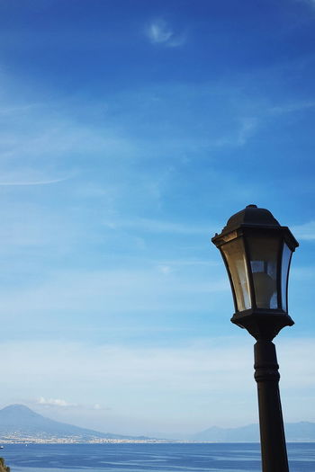 Napoli Travel Beauty In Nature Blue Blue Sky Cloud - Sky Day Horizon Over Water Landscape Low Angle View Napoliphotoproject Nature No People Outdoors Photo Photographer Photography Photooftheday Scenics Sea Sky Sky_collection Street Light Travel Destinations Water EyeEmNewHere