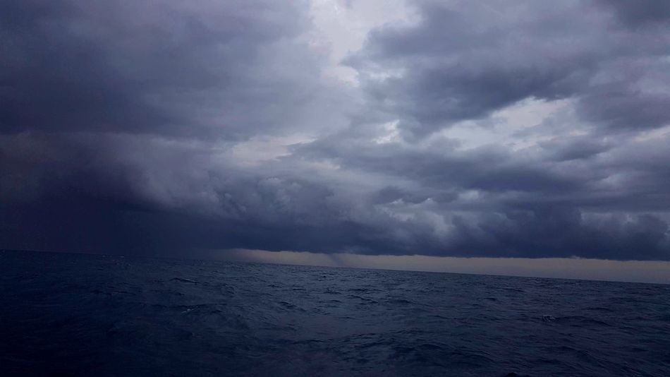 Weather Cloud - Sky Rain Dramatic Sky Storm Sea Atmospheric Mood Water Landscape Storm Cloud Thunderstorm Extreme Weather Nature Torrential Rain Environment No People Ominous Social Issues Horizon Over Water Outdoors