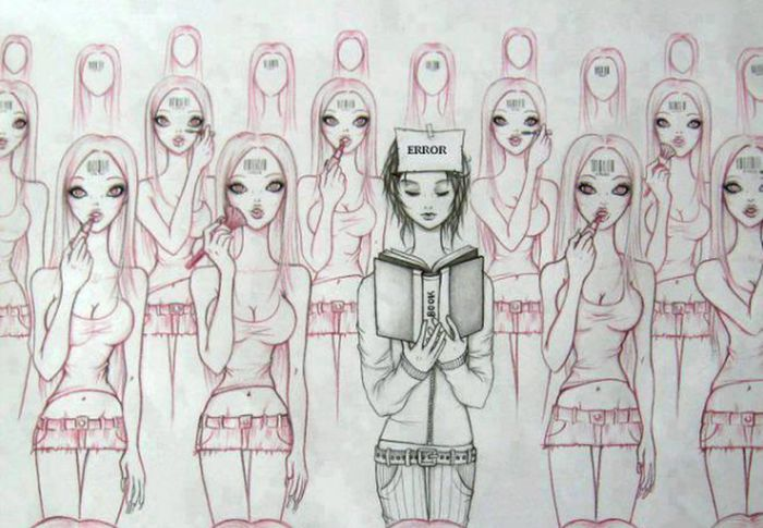 people may hate you for being different and not living by society's standarts, but deep down, they wish they had the courage to do the same Fuck Society Be Different Don't Care Be Yourself