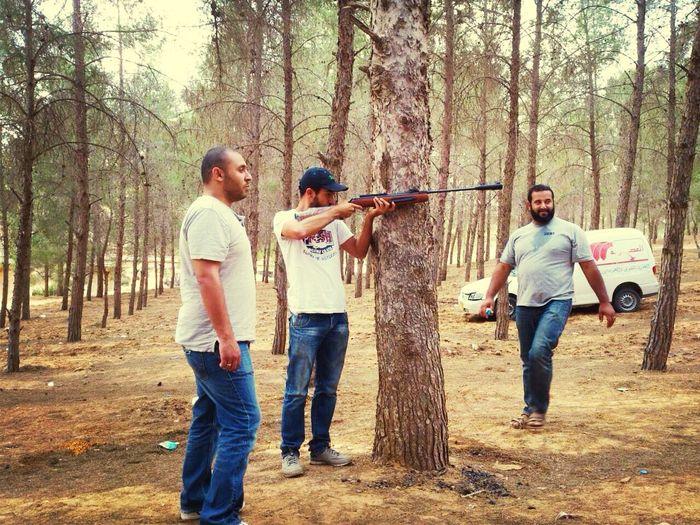 Libya Gun Sniper Enjoying Life