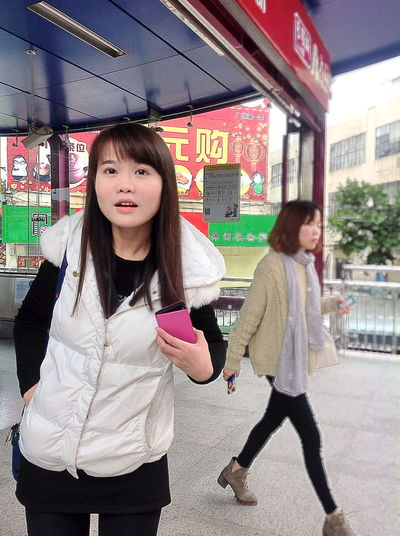 Taking Photos Streetphotography Iphonephotography People Beauty Girl Goodbye Chinese Girl EyeEm China Watching watch