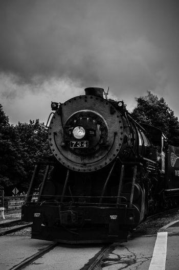 Train Train Station Black & White