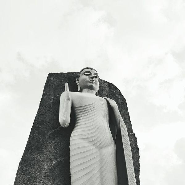 Lord Buddha Sri Lanka Beauty Buddha Statue Blackandwhite Buddha Matara