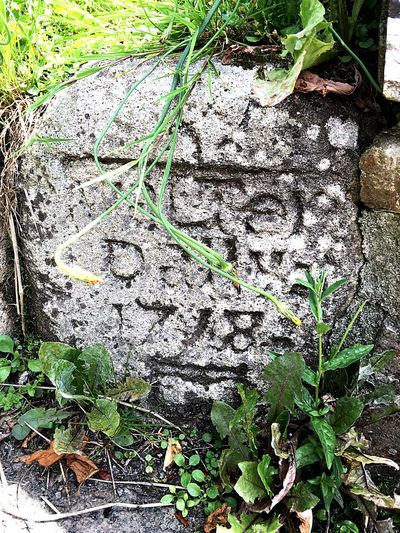 Dedication to Walter who departed Mevagissey in the year 1748!! Check This Out Engraved Rock Stone Granite Headstone Close-up Look he may be gone but his name lives on.. Handcarved Stonemason for the Poor