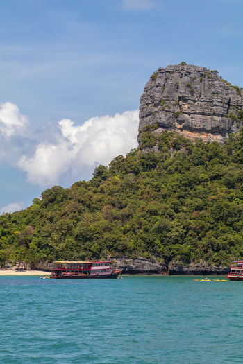 Angthong National Marine Park Thailand Architecture Beauty In Nature Cloud - Sky Day Mode Of Transportation Mountain Nature Nautical Vessel No People Outdoors Popular Samui_thailand Scenics - Nature Sea Ship Sky Transportation Travel Travel Destinations Tree Turquoise Colored Water Waterfront
