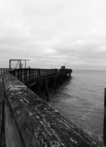 Walton On The Naze Walton Pier Beach Sea Blackandwhite Depth Of Field Pier Essex