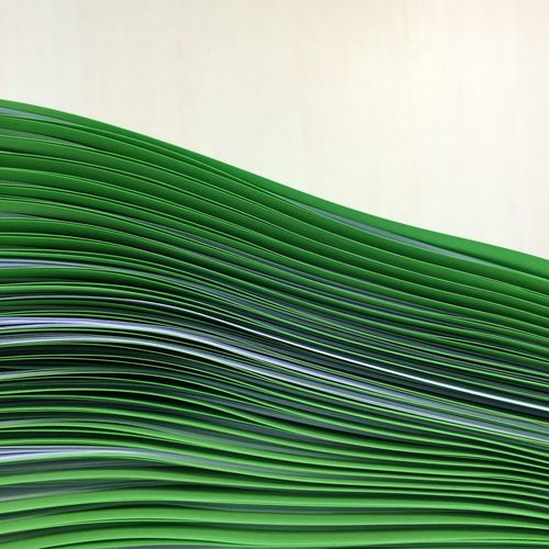 Close-up of green file folders