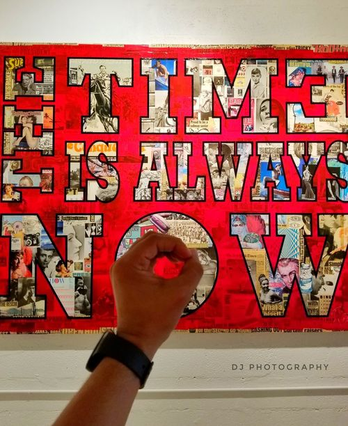 Now...One Person Red Indoors  Luck People Close-up Real People Day Outdoors Summer EyeEmNewHere Wynwood Miami Wynwood Walls Painting Art Wall Art