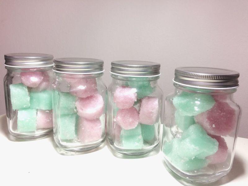 Sugar Sugar Scrub Still Life Pink Color Multi Colored Variation No People Indoors  Close-up Freshness