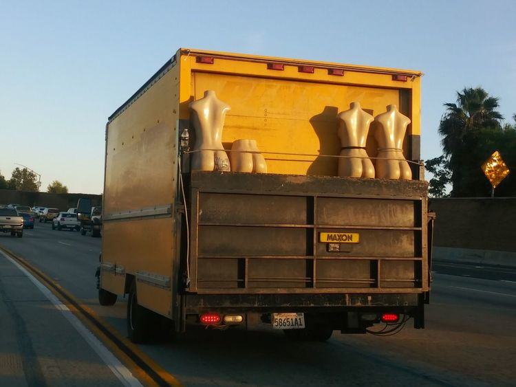 Well, there's something you don't see everyday. Mannequins Moving Van From A Moving Vehicle Freewayphotography 405 Freeway Long Beach, California USA  Afternoon Light Rush Hour Traffic California Funnyshit  Funny Stuff Freeway Fast Lane Mannequin Mannequin Attack! Mannequin Madness