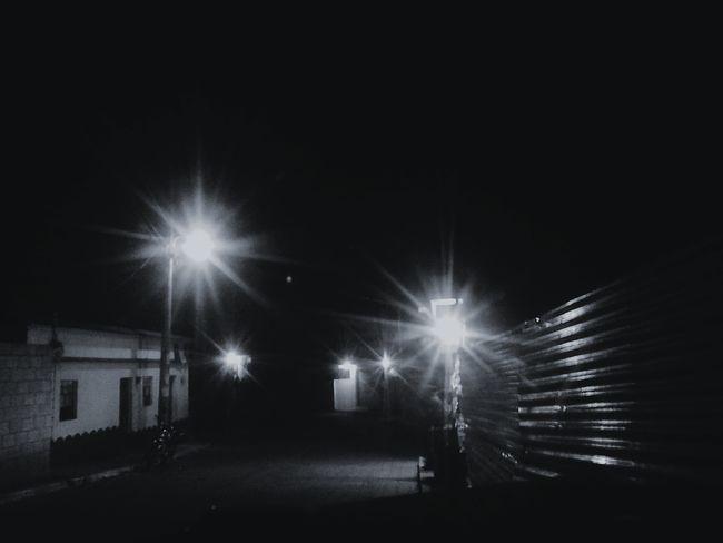 Night Illuminated No People Blackandwhite Street Sky Nature Is Art Tranquility