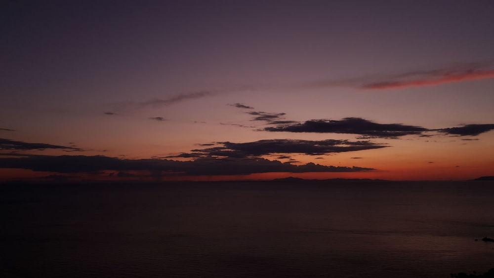Water Sea Low Tide Sunset Horizon Reflection Romantic Sky