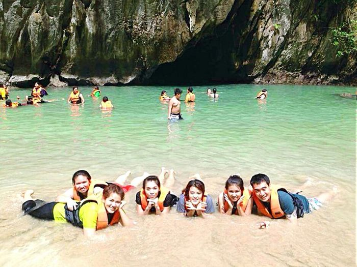 RePicture Travel The emerald cave, koh muk, Thailand Fun With Friends Natural Sun, Sand And Sea Relaxing Taking Photos