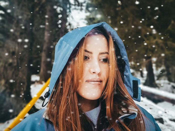 Warm Clothing Portrait Snow Cold Temperature Winter Beautiful Woman Women Snowing Headshot Smiling Snowflake Ski Jacket EyeEmNewHere
