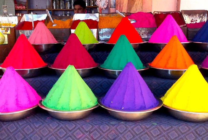 Arrangement Collection Colorful Colors Colors Of India Colors Of India Dyes In A Row India Multi Colored Pyramid Shape Repetition Side By Side Still Life