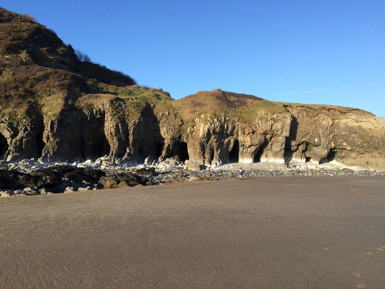 Pendine Beach Rocks Wales
