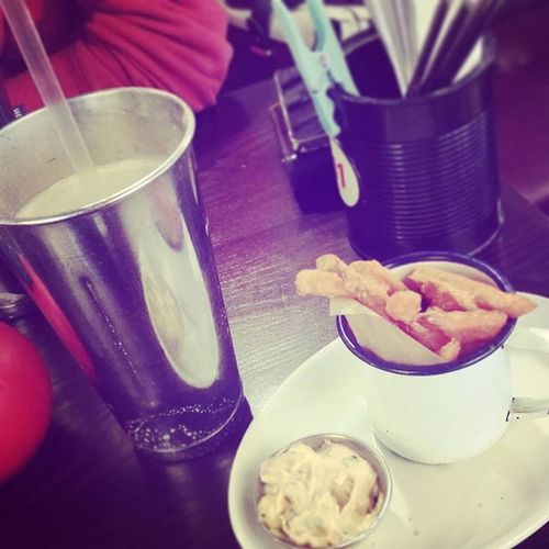 Sweet potato fries with peanut butter milkshake ♡ Sexytime Food Love Yummy Bgk Burgergourmetkitchen
